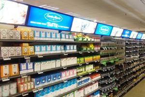 Belysning med ljuslådor i butiksinredning