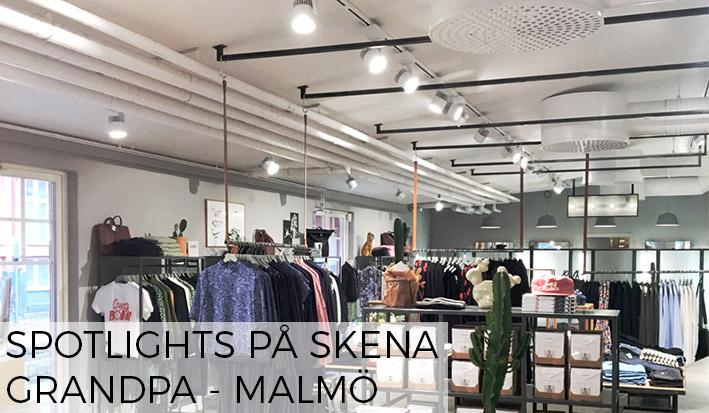 Butiksbelysning Grandpa Malmö