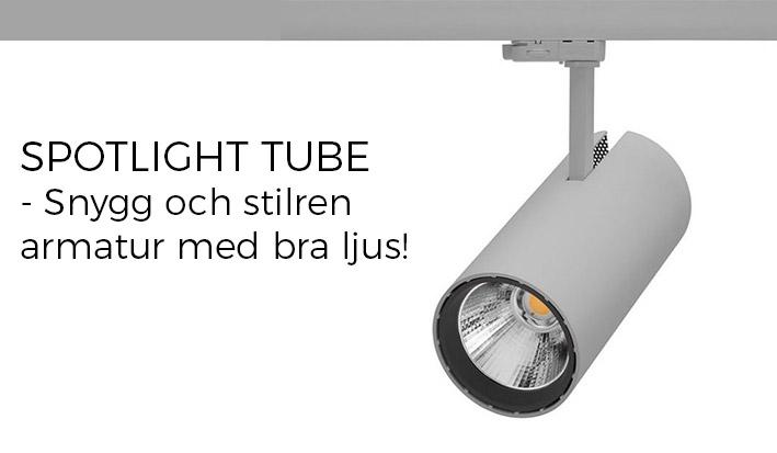 LED Spotlight på skena