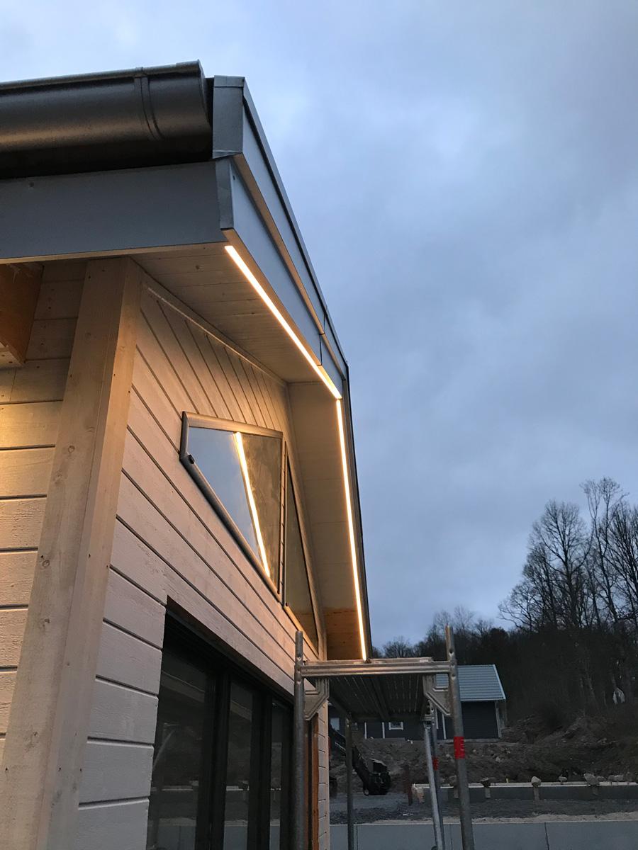 Belysning takfot utomhus