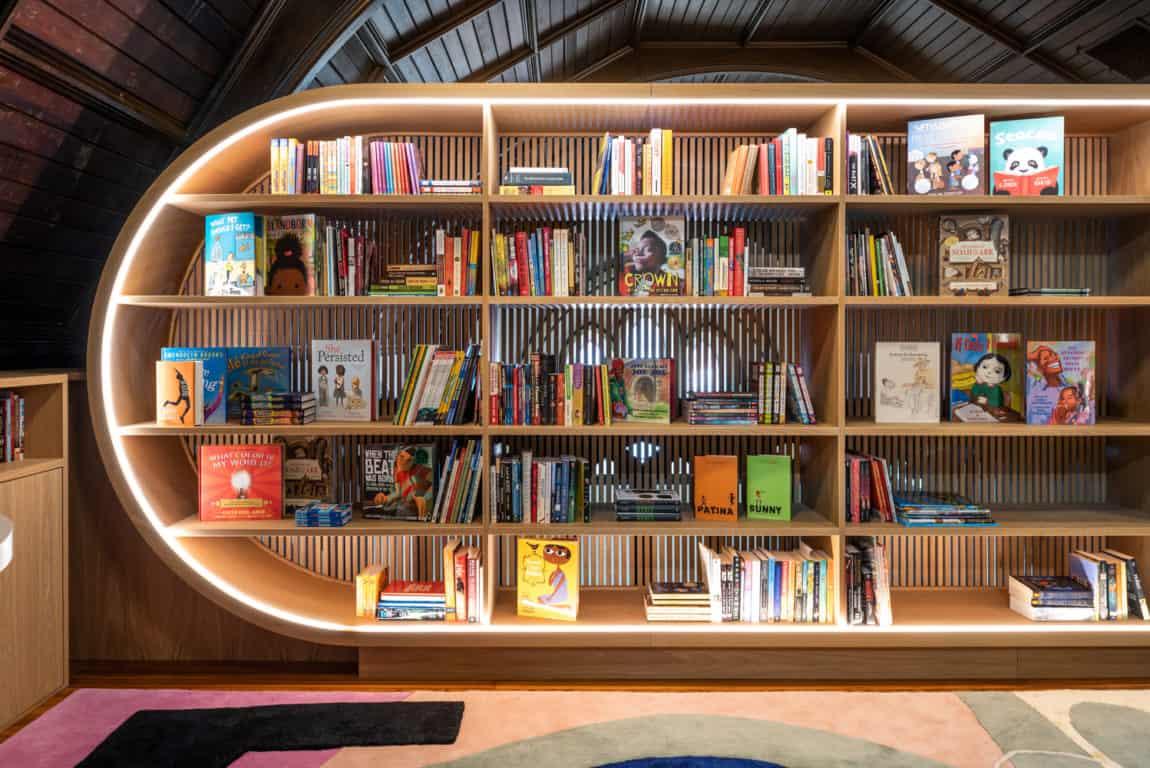 bibliotek belysning
