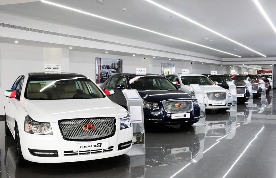 Belysning bilhall / showroom