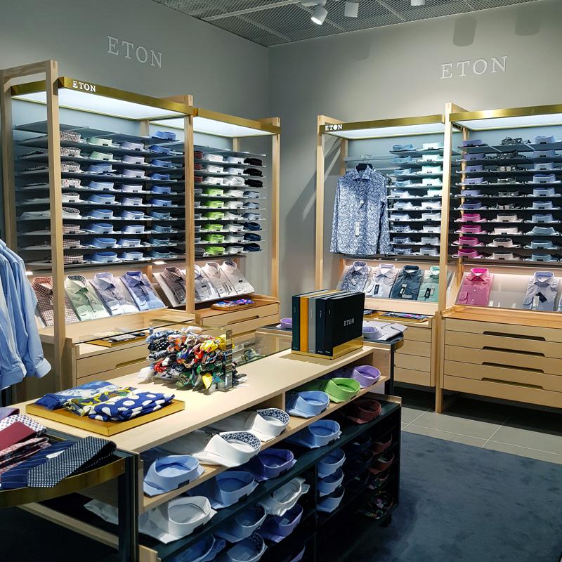 Belysning mode- och klädesbutik