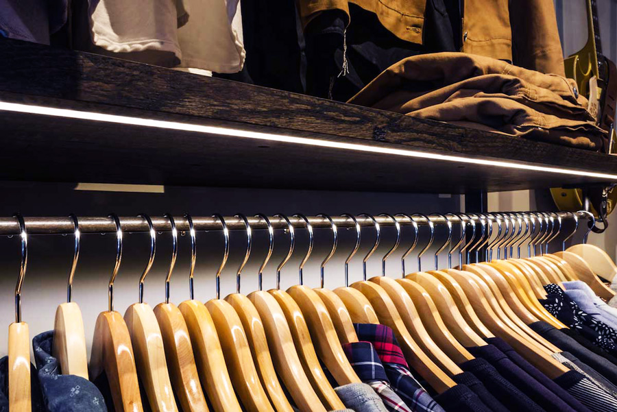 Klädesbutik / Modebutik LED lister