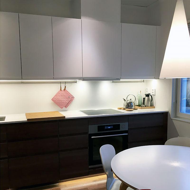 Belysning köksbänk med LED-lister & LED-strips