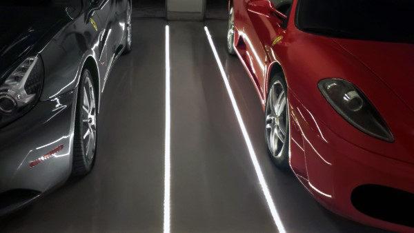 garagebelysning golv LED