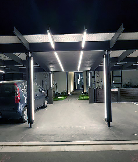 Parkeringsgarage belysning