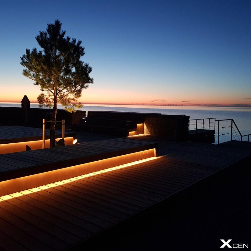 LED-belysning för brygga och hamn