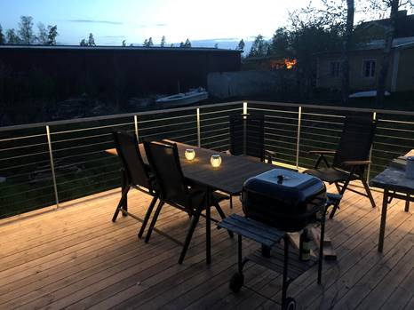 Altan veranda räcke belysning