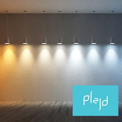Ändra ljusfärg på ledlister med Plejd