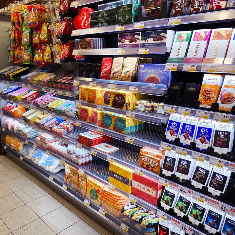 ICA belysning hyllor - Exponera produkter/varor i butik