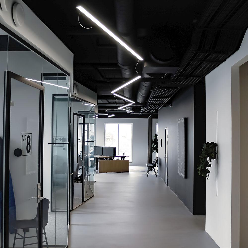 Linjär belysning på kontor