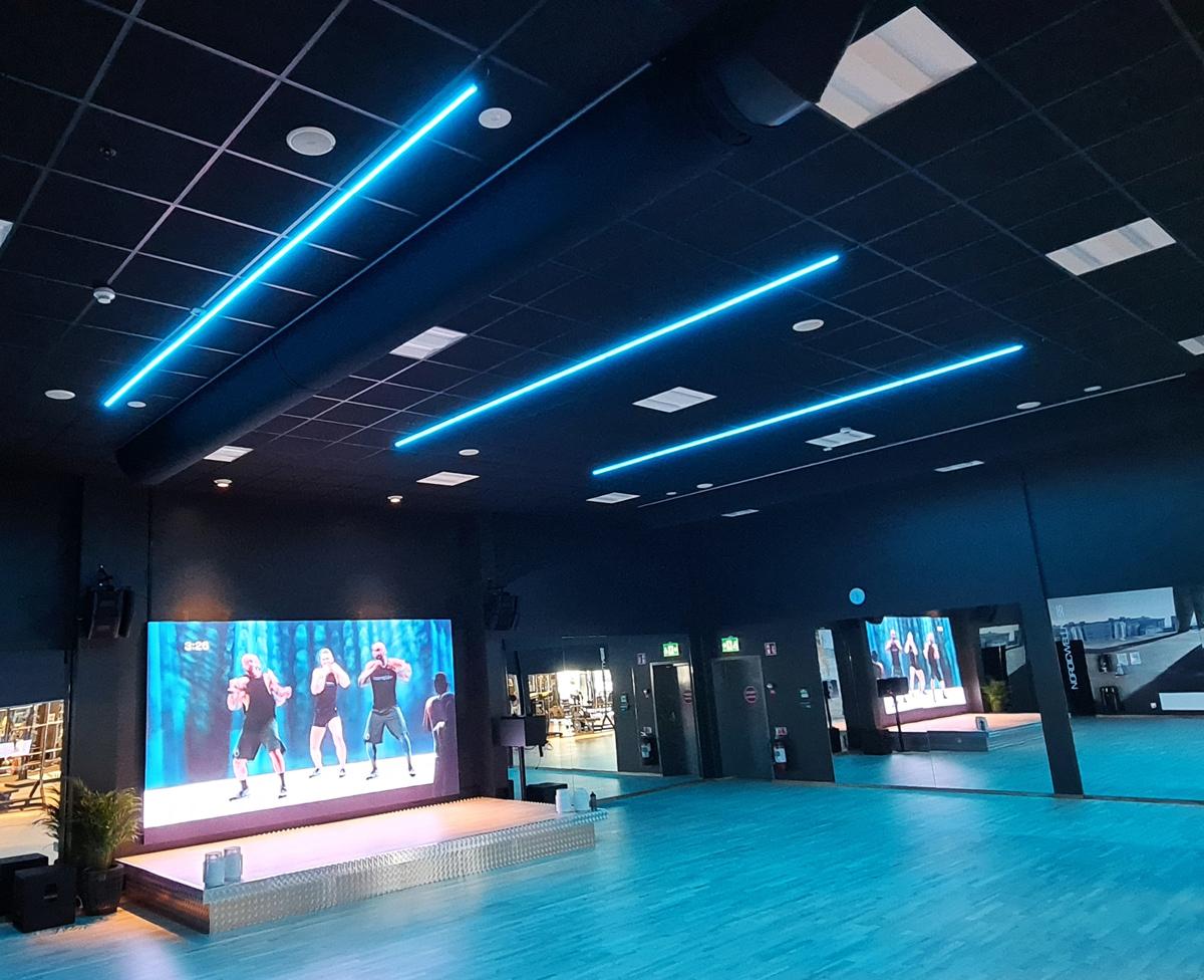 RGB Belysning till Gym / Träningslokal