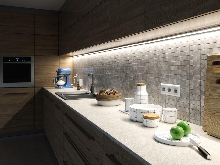 Bänkbelysning för kök