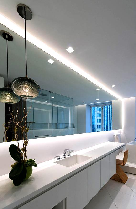 LED-belysning badrumsspegel