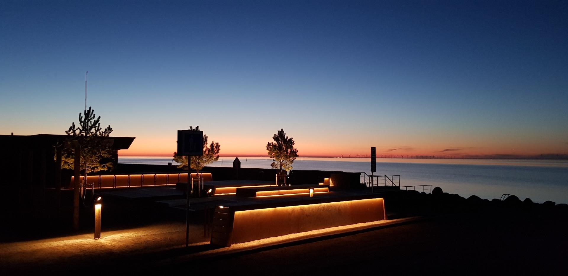 Bänkbelysning utomhus LED