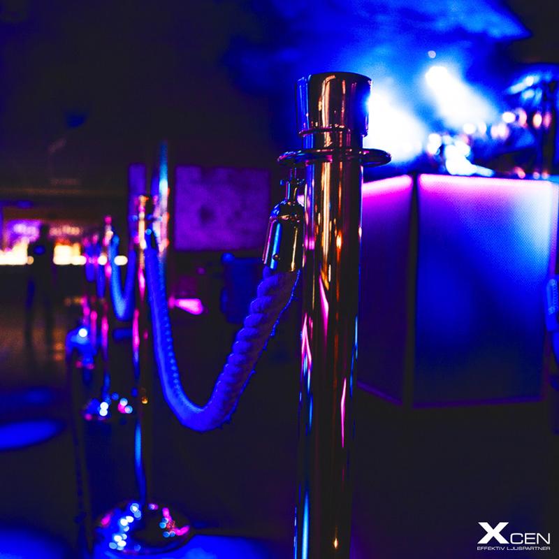 LED-lister på nattklubb