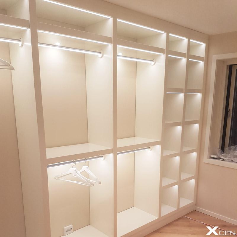 Belysning till garderob (walk-in closet)