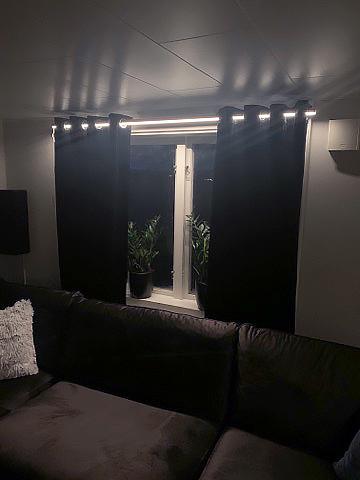 Gardinstång belysning - Rund LED-stång