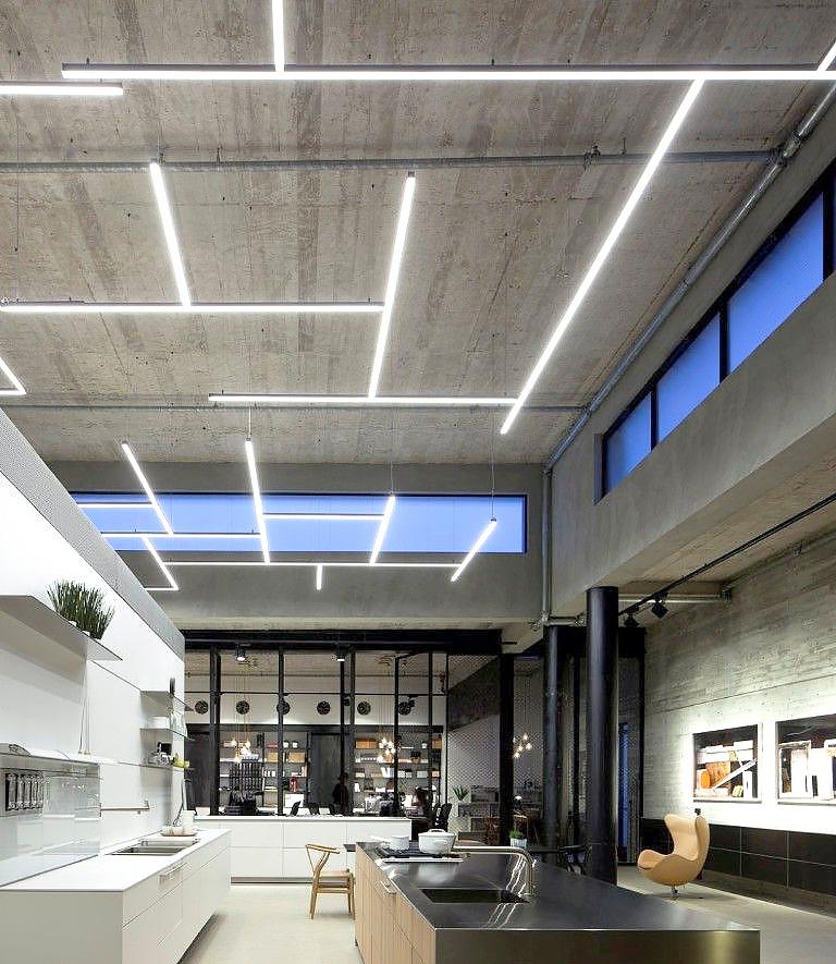 Linjär design-belysning tak