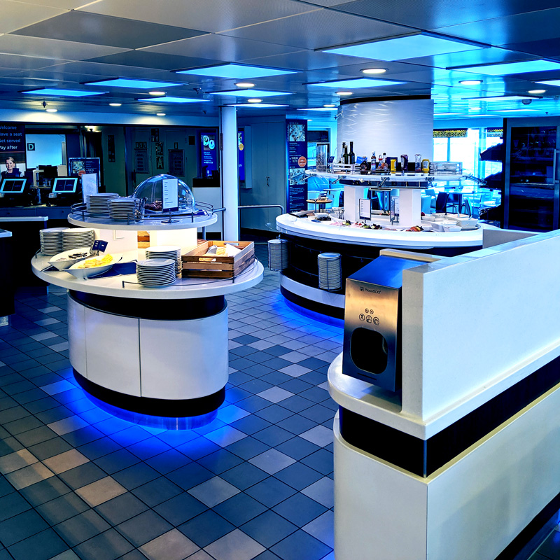 RGB LED panel restaurang