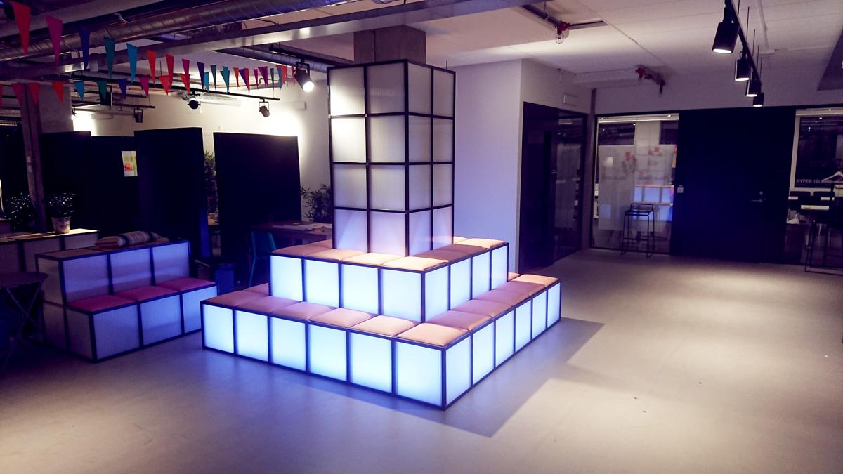 RGB soffa LED ljus