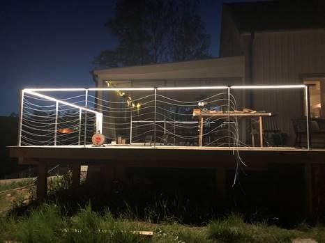 LED-lister / LED-strips tralldäck veranda