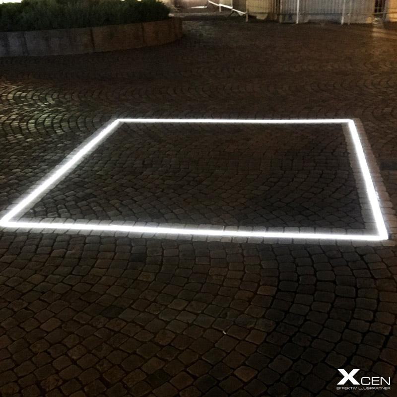 Gatubelysning med LED-strips