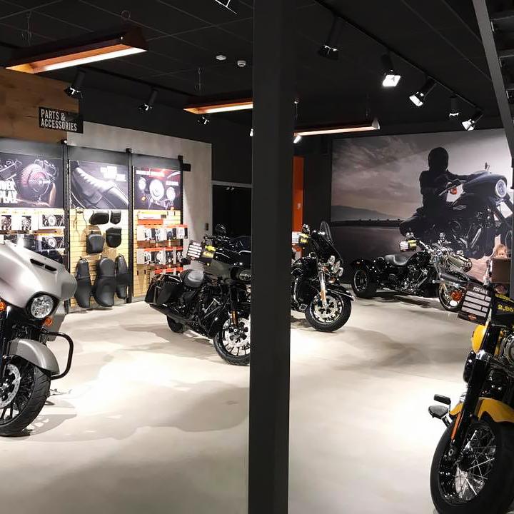 Belysning till Harley Davidson butik