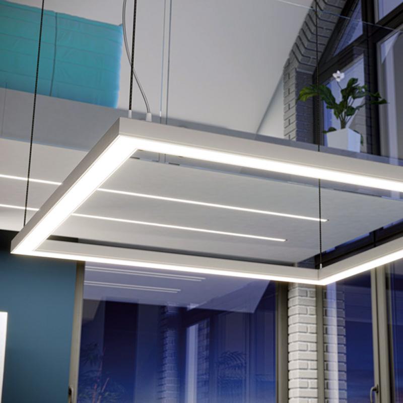 Fyrkantig linjär LED-ljus