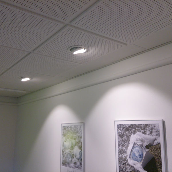 LED downlights kontor