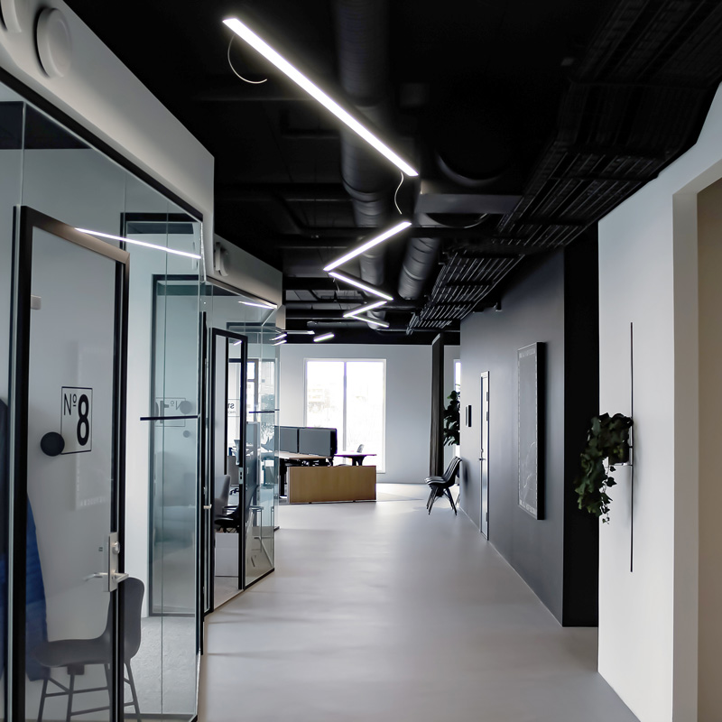 Linjära LED-lister kontor
