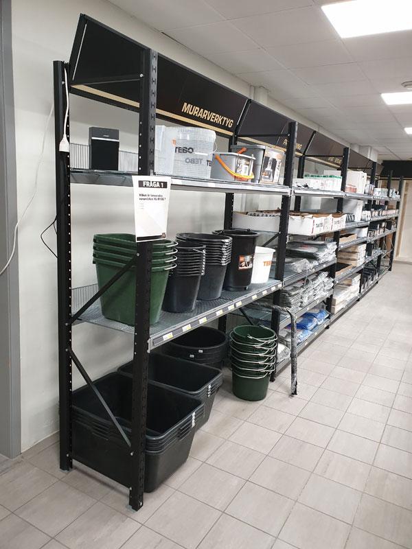 Led paneler i butiksinnertak