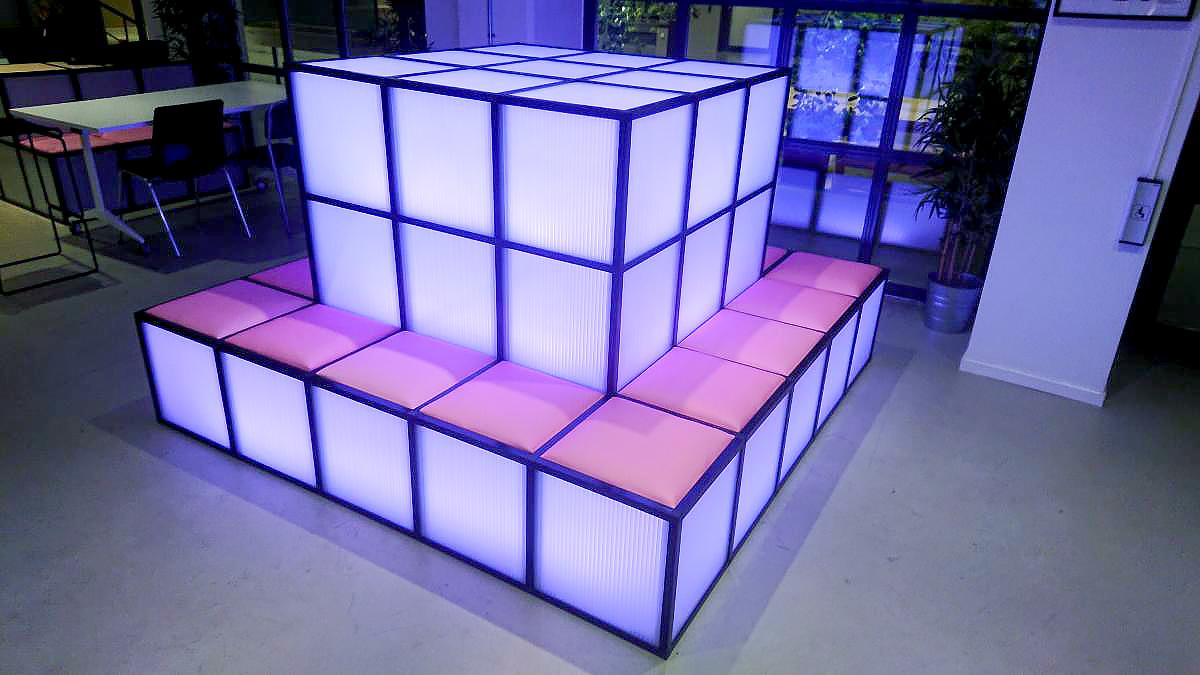 Möbelkonstruktion LED-belysning