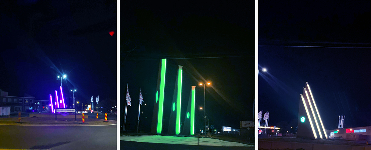 Rondell Ljusdesign med RGB Belysning